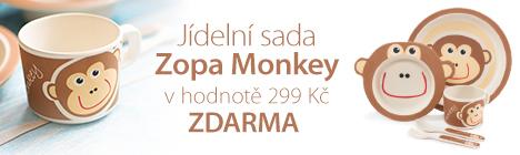 Jídelní sada Zopa Monkey ZDARMA k nákupu