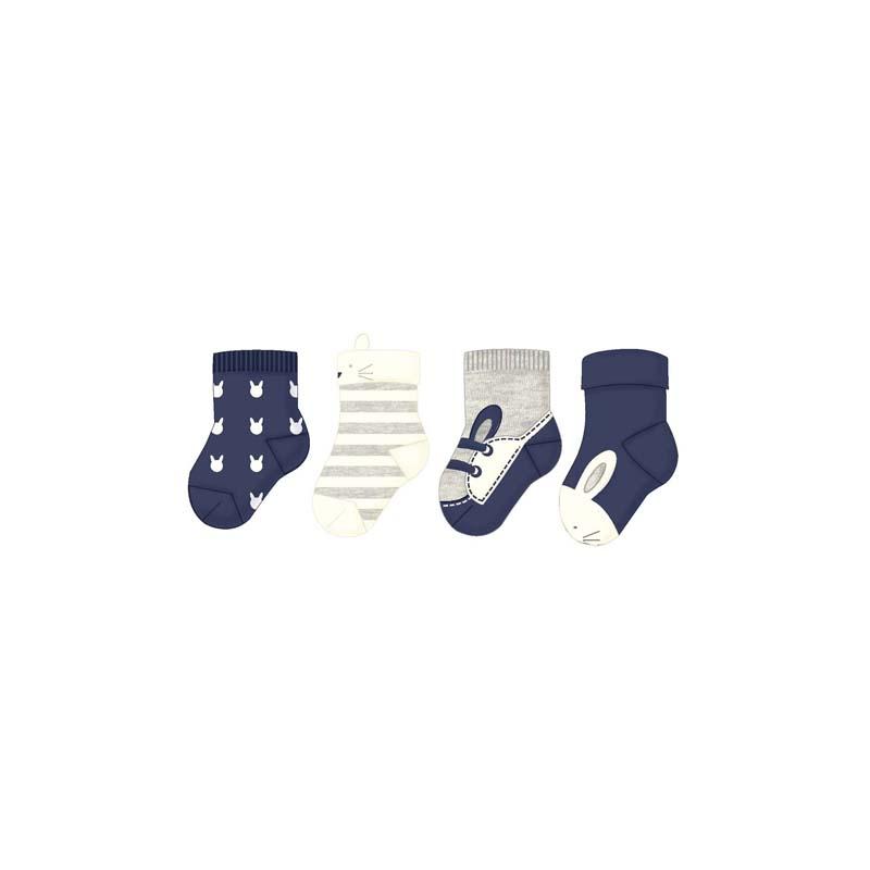 MAYORAL Dívčí ponožky 4ks Tm.modrá