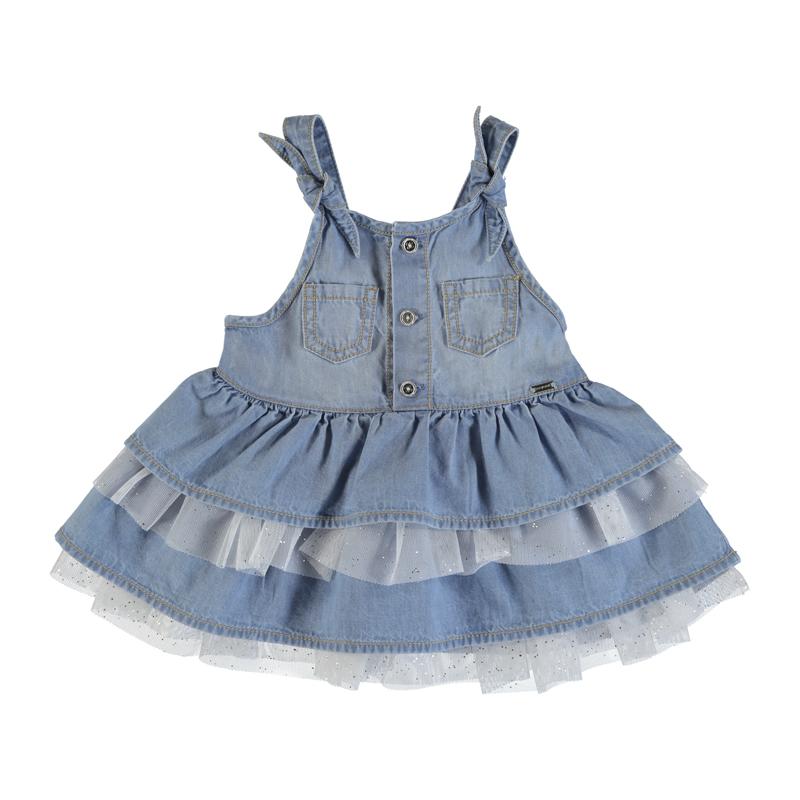 MAYORAL Dívčí riflové šaty Denim