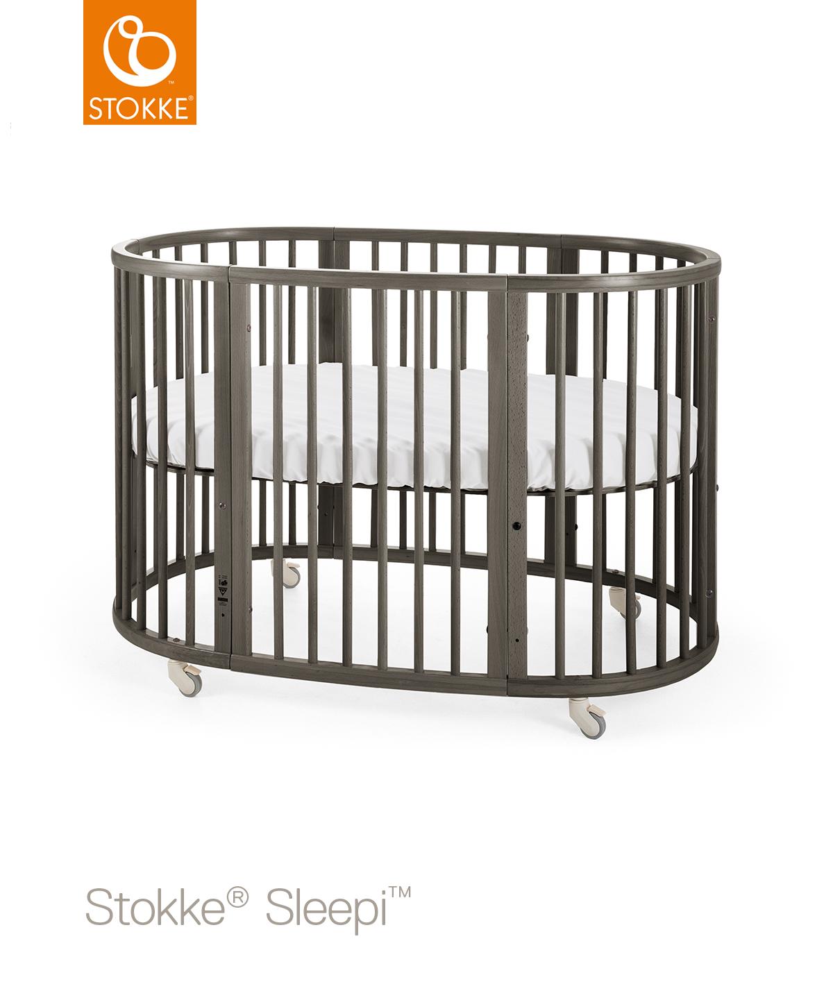 STOKKE Dětská postýlka Sleepi+matrace Hazy Gray