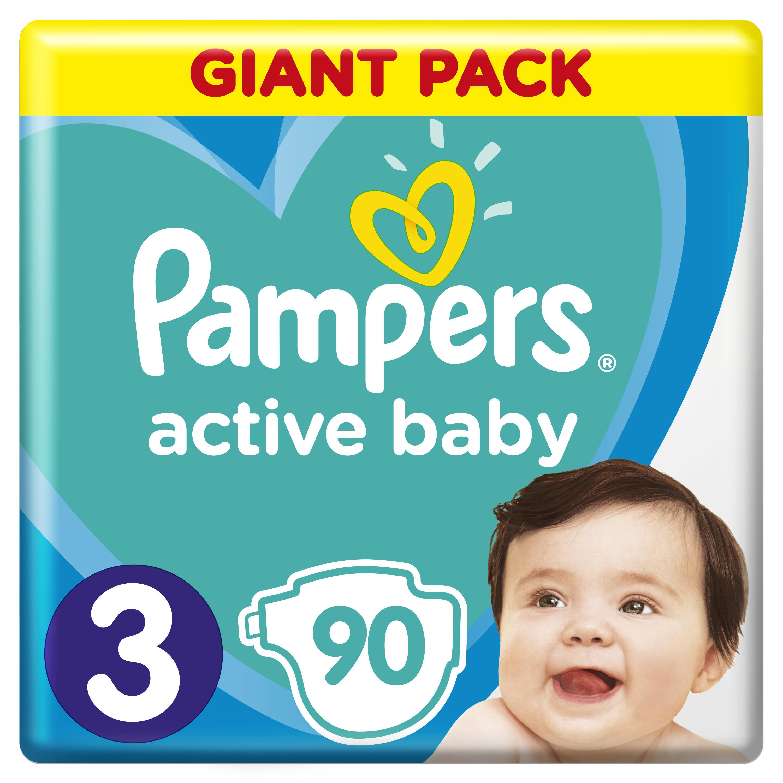 PAMPERS Plenky Active Baby-Dry 3 Midi 90ks Pampers