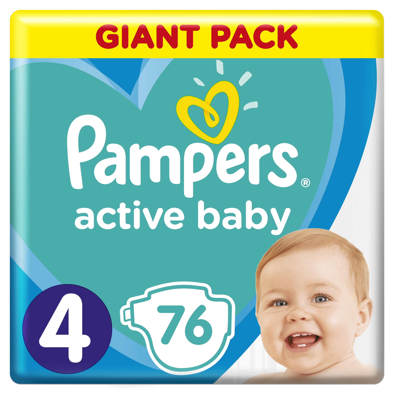 PAMPERS Plenky Active Baby-Dry 4 Maxi 76ks