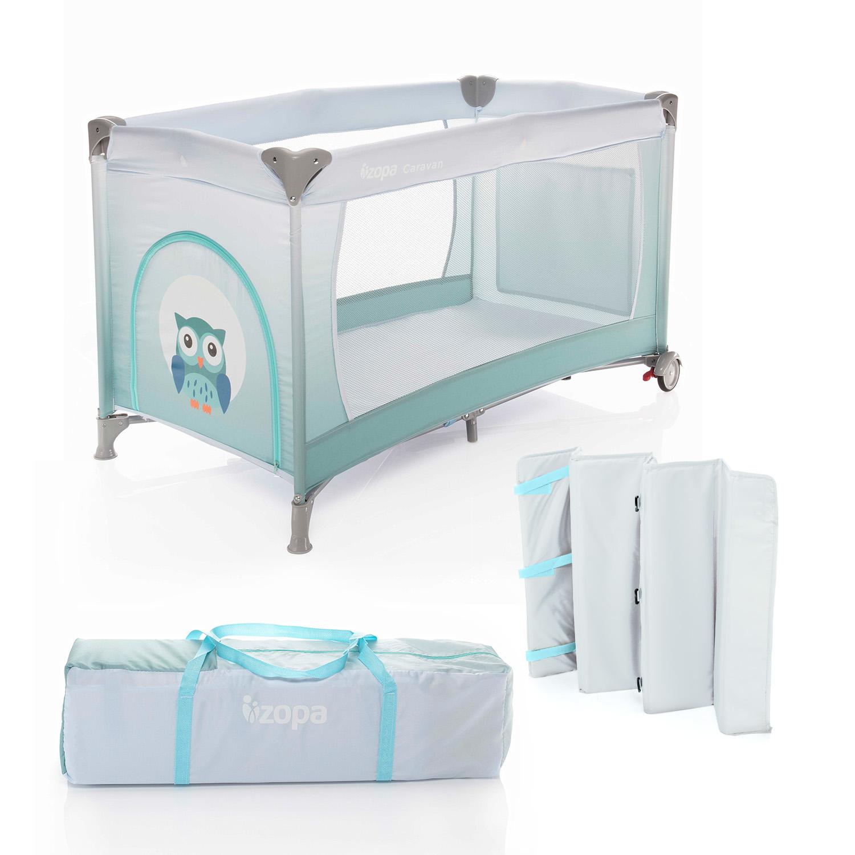 ZOPA Postýlka skládací Caravan Gradient Blue ZOPA