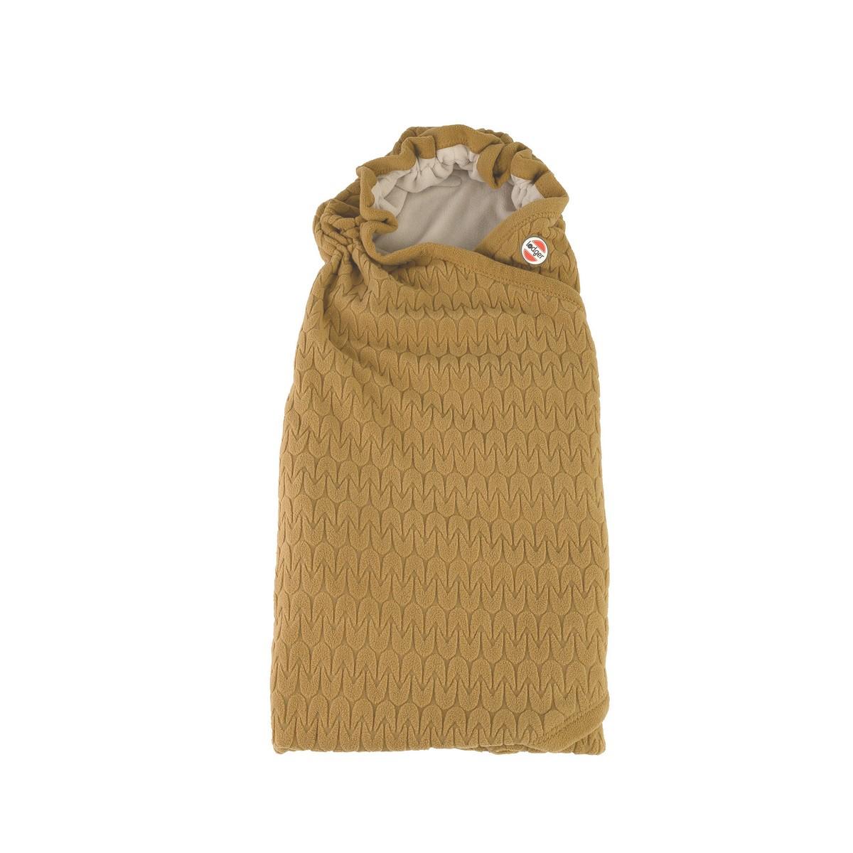 LODGER Zavinovačka Wrapper Fleece Empire Dark Honey