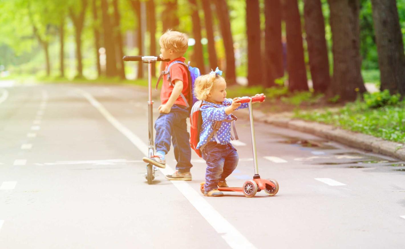Ideální na výlet – dětská koloběžka