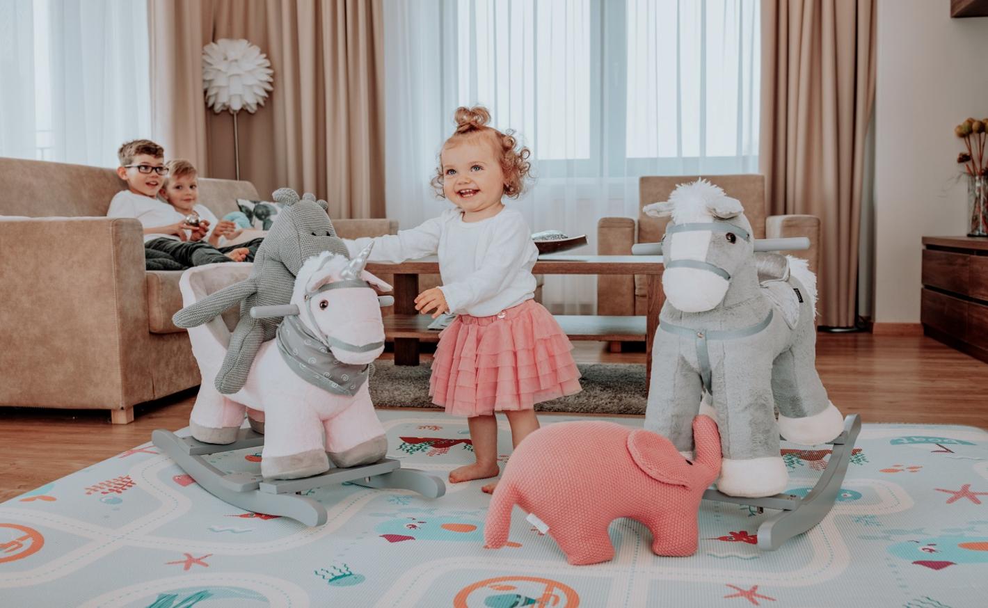 Houpací zvířátka udělají radost každému dítěti